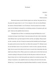 The Reader essay