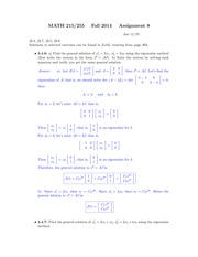 MATH 215 Fall 2014 Assignment 8 Solutions