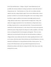 College to Call Girl Summary_Assig #2a.docx