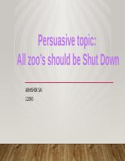 Abhishek sai All zoos should be shut down   12090.pptx