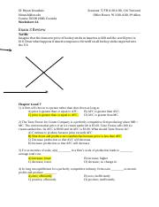 Worksheet 16 Exam 3 Review Answer Key