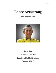 Lance Armstrong final paper