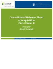 Consolidated Balance Sheet at Acquisition(4) (2).pptx