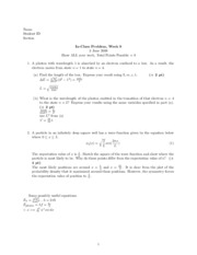 In-class problems 6 Solutions