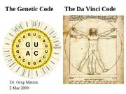 Lecture 20 Genetic Code