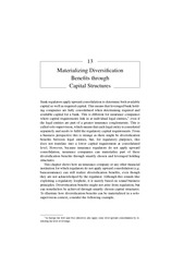Chapter 13 Materializing Diversification Benefits through Capital Structures