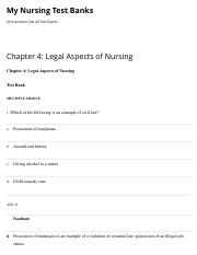 Chapter 4: Legal Aspects of Nursing | My Nursing Test Banks.pdf