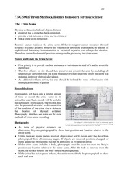 3.1 Crime scene investigation - lecture notes