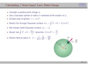 52. Calculating Electric Field from Gauss' Law- Point Charge