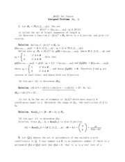 Solutions Problems 3
