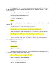 MH final exam practice questions.docx - 6 A nursing ...