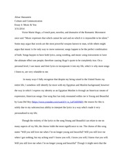 Music and culture essay