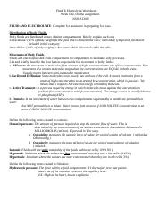 Week 6 Fluid Electrolyte Worksheet ANSWER KEY.docx - Fluid ...