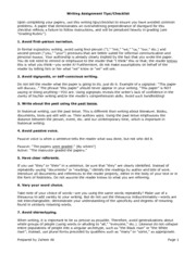 History Writing Tips Checklist, Rubric 50