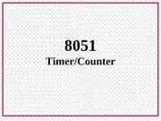 8051 Timer Counter