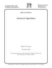 EECS 5101 MIT 1994 Advanced Algorithms