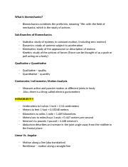 Notes for Biomechanics  (Autosaved).docx