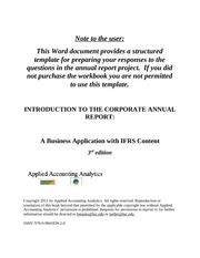 BUS5601 - Corporate Annual report
