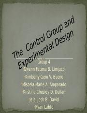 The  Control Group and Experimental Design.pptx