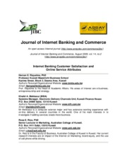 Internet Banking Customer Satisfaction and Online Service Attributes