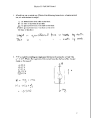 Exam 1 Fall 2007 Solutions