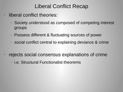 Liberal Conflict Theories