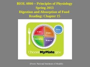 26 27 Digestion and Absorption of Food