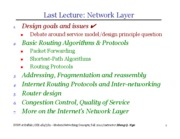 14 - Routing Algorithms and Protocols