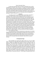 """summary of freuds theory of personality essay Sigmund freud essay by lauren  are another well-known theory that plays off of the  essay defining characteristics of chicago's """"personality."""