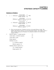 Ch.5 capacity planning solutions