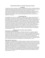 Critical Incident Worksheet #1