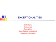 Exceptionalities