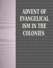 7 Advent of Evangelicalism in the Colonies