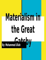 Materialism in the Great Gatsby.pptx