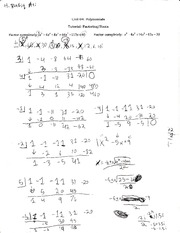 Homework on factoring-roots and inversre polynomials