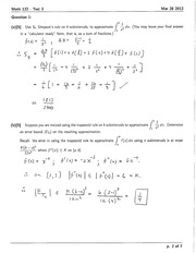 Math 122 Simpson Rule notes