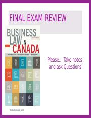 BLAW2205 FINAL EXAM REVIEW Fall2016.pptx