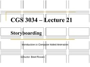 Lecture 21 - Storyboarding