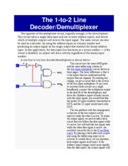 The 1-to-2 Line Decode-Demultiplexer