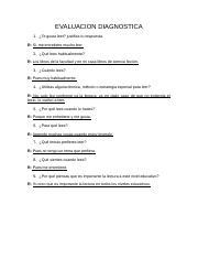 Unidad 3 2 Docx Evaluacion Diagnostica 1 Te Gusta Leer