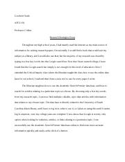 Essay for Articles