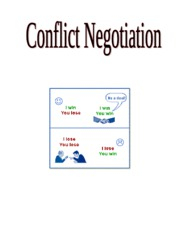 Conflict Negotiation