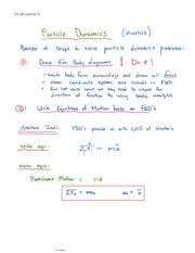 Particle Dynamics, steps to solve equations