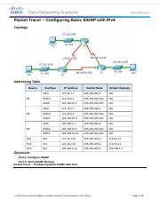 6.2.2.4 Packet Tracer - Configuring Basic EIGRP with IPv4 Instructions.docx