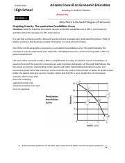 Handout 2: Production Possiblities Curve Answer Key