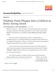 Vladimir Putin Plunges Into a Caldron in Syria_ Saving Assad - The New York Times.pdf