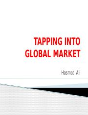 Tapping into global market new-pp01.pptx