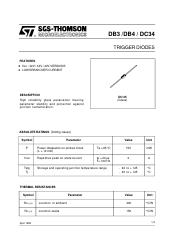 Db3 Diac Datasheet Ebook Download