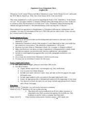 2 13 2020 Argument Essay Assignment Sheet.docx