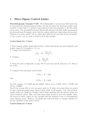 Stat 335 Three Sigma Control Limit Notes